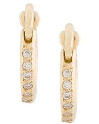 Ileana Makri - Diamond Mini Hoop Earrings - Lyst