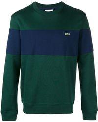 Lacoste - Striped Crew Neck Sweater - Lyst