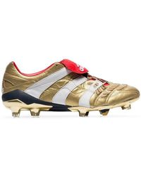 ee03e9181 adidas - Gold X Zidane Predator Accelerator Leather Football Boots - Lyst