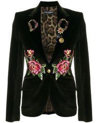 Dolce & Gabbana - Embroidered Blazer - Lyst