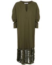 Gloria Coelho - Cut Out Details Midi Dress - Lyst