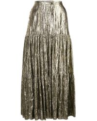 Michael Kors - Crushed Lame Tiered Skirt - Lyst