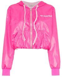 Natasha Zinko - Pink Nylon Zip Front Jacket - Lyst