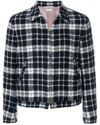Thom Browne - Tartan Tweed Golf Jacket - Lyst