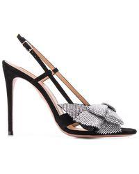 e07ad63b7346 Lyst - Aquazzura Flash Dance Crystal-bow Sandals in Black