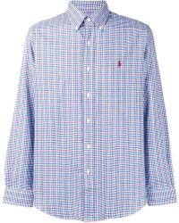 dadd35c5a8 Lyst - Polo Ralph Lauren Striped Buttondown Shirt in Pink for Men