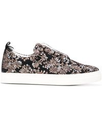 Pierre Hardy - Floral Embroidered Slider Trainers - Lyst