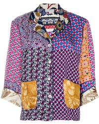 Pierre Louis Mascia - Patchwork Shirt - Lyst