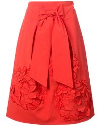 Josie Natori - 3d Embroidered Skirt - Lyst