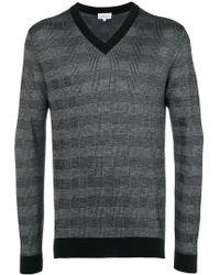 Brioni - Men's Cashmere Plaid V-neck Sweater - Lyst