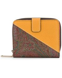 Etro - Two Tone Square Wallet - Lyst