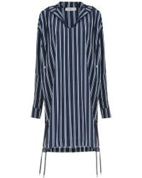 Egrey - Hooded Striped Top - Lyst