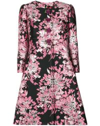 Dolce & Gabbana - Floral Embroidered Tailored Coat - Lyst