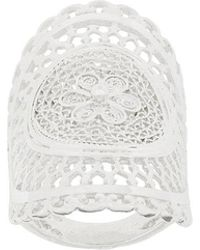 Wouters & Hendrix - My Favourite Filigree Long Finger Ring - Lyst