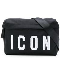 8e1f004b2bf Dsquared² Icon Frame Nylon Belt Pack in Black for Men - Save 23% - Lyst