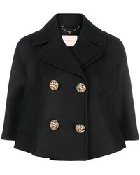 Twin Set - Double-breasted Cropped Jacket - Lyst