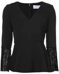 Prabal Gurung - Fringed Sleeves Top - Lyst