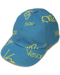 Versace - Logomania Print Cap - Lyst