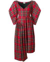 Isa Arfen - Asymmetric Tartan Dress - Lyst