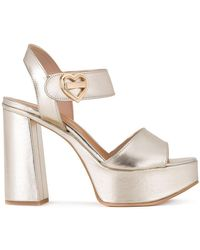 Love Moschino - Chunky Heel Sandals - Lyst