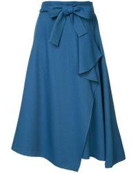 Loveless - Belted Asymmetric Skirt - Lyst