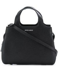 Giorgio Armani Charniere Doree  Leather Top Handle Bag in Gray - Lyst e592d8f186