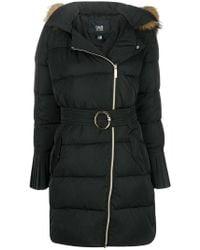 Class Roberto Cavalli - Racoon Fur Trim Puffer Jacket - Lyst