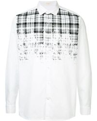 Education From Young Machines - Dissolved Check Shirt - Lyst