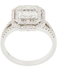 Gemco - 18kt White Gold Square Cut Diamond Ring - Lyst