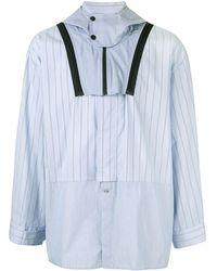 Yoshiokubo Mixed Striped Hooded Shirt