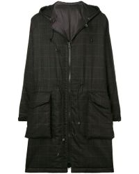 Barena - Checked Hooded Parka - Lyst