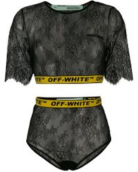 Off-White c/o Virgil Abloh - Lace Two-piece Set - Lyst