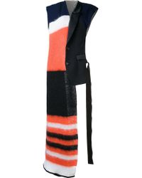 Undercover - Oversized Striped Scarf - Lyst