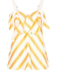 Comme Moi - Striped Top - Lyst