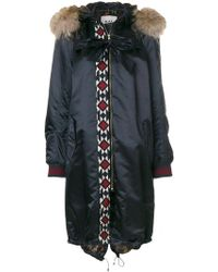 Bazar Deluxe - Embroidered Detail Parka Coat - Lyst