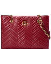 4029ed64a2e Lyst - Gucci Gg Marmont Leather Top Handle Mini Bag in Gray