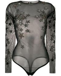 Amen - Star Embellished Bodysuit - Lyst