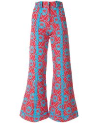 Richard Malone - Front Flare Strip Trousers - Lyst