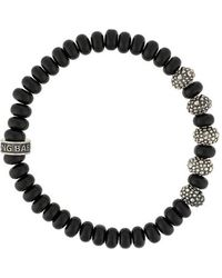 Lyst King Baby Studio 8mm Black Onyx Bead Bracelet With Indian