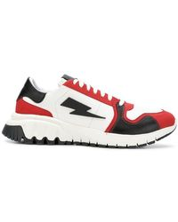 Neil Barrett - Lightning Bolt Sneakers - Lyst