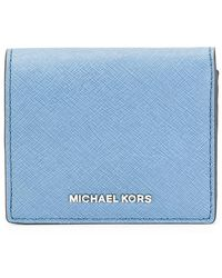 b24dac7de552 MICHAEL Michael Kors 'jet Set Travel' Wallet in Natural - Lyst