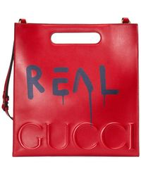 Gucci - Ghost Leather Tote - Lyst