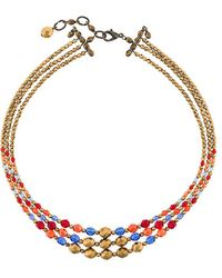 Armani - Multi String Beaded Necklace - Lyst