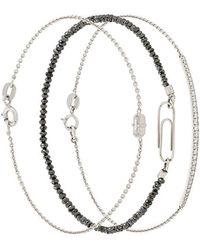 Uzerai Edits - Black Diamond Bracelet - Lyst