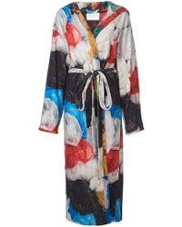 Vionnet - Long Printed Kimono - Lyst