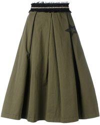History Repeats - Frayed Waistband Skirt - Lyst