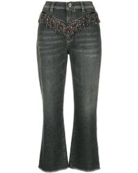 Pinko - 'Micky' Cropped-Jeans - Lyst