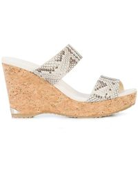 Jimmy Choo - Parker 100 Wedge Sandals - Lyst