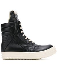 Rick Owens - Quilted Hi-top Sneakers - Lyst