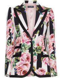 Dolce & Gabbana - Cady Printed Silk Blazer - Lyst